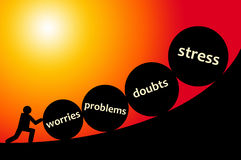Stress. Having all kind of problems, like stress and doubts