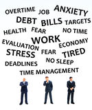 Stress. Different situations attributing to stress in life and business Stock Image