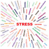 Stress. Contributory factors causes symptoms effects conceptual illustration Royalty Free Stock Photo
