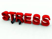 Stress 4. An image of a person who is literally overwhelmed by the danger of stress Stock Photography