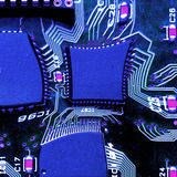 Stress. A stressed circuit board distorting under pressure - photoshop filter stock photos