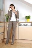 Stress. Ed business woman having head pain royalty free stock photo