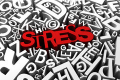 Stress. Busy stress concept with red letters Royalty Free Stock Image