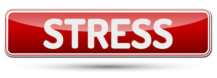 STRESS - Abstract beautiful button with text. Stock Photo