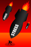 Stress attack. Having way too much stress in your life Stock Image