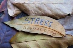 STRESS Awareness Day royalty free stock photo