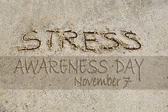 Stress awareness day royalty free stock images