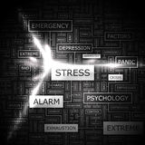 STRESS. Background concept wordcloud illustration. Print concept word cloud. Graphic collage Royalty Free Stock Photography