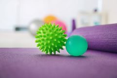 Stress balls on floor royalty free stock photography