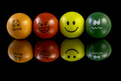 Stress balls that have personality Stock Images