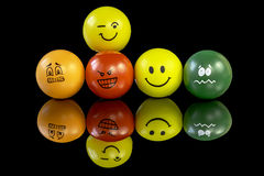 Stress balls that have personality Royalty Free Stock Image