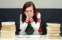 Stress Before School Exam Stock Photo
