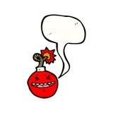 Stress bomb cartoon. Retro cartoon with texture. Isolated on White Stock Photography