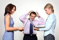 Stress: business colleagues Stock Photo