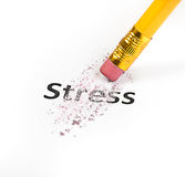 Stress at business office concept. With pencil and eraser Stock Images
