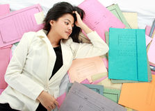 Stress business woman Royalty Free Stock Image