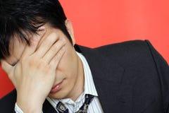 Stress businessman royalty free stock photography