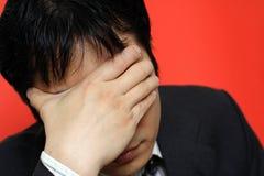 Stress businessman Stock Photos