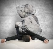 Stress of a businessman Royalty Free Stock Images