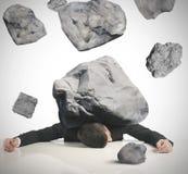 Stress of a businessman Stock Photos