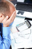 Stress. Businessman in the office Royalty Free Stock Images
