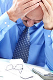 Stress. Businessman in the office Royalty Free Stock Photos