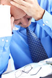 Stress. Businessman in the office Stock Image