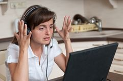 Stress - bussy working woman Stock Image