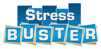 Stress Buster Blue Stripes Squares Stock Photography
