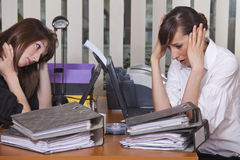 Stress By The Work Stock Photography