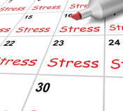 Stress Calendar Means Pressure Strain And Stock Photos