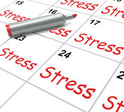 Stress Calendar Means Pressured Tense And Royalty Free Stock Photos