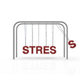 Stress. Chars hanging on lines Stock Photo