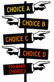 Stress of choice vector illustration