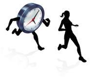 Stress Clock Race Concept Royalty Free Stock Photos