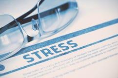 stress Conceito médico no fundo azul ilustração 3D Fotografia de Stock Royalty Free