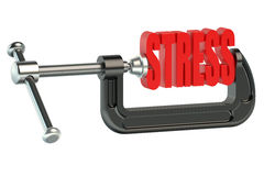 Stress concept in clamp 3D Royalty Free Stock Photography