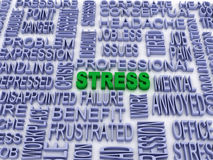 Stress concept (word cloud). 3d stress concept (word cloud Royalty Free Stock Photos