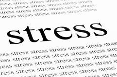 Stress. Conceptual background of stress in white background Stock Photos