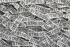 Stress. Crumpled paper pieces with words Stress Stock Photography