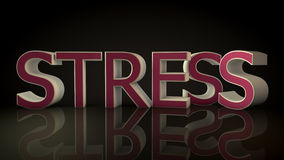 Stress 3d text. And floor Stock Photo