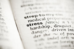 'Stress' - dictionary definition vignette Royalty Free Stock Images