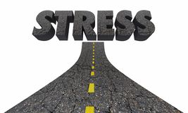 Stress Driving Word Road Rage Anger Emotion. 3d Illustration Royalty Free Stock Photos