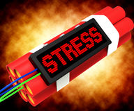 Stress On Dynamite Showing Pressure Of Work. Stress On Dynamite Shows Pressure Of Work Stock Images