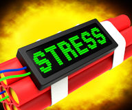 Stress On Dynamite Shows Pressure Of Work Royalty Free Stock Images