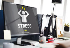 Stress Failure Depression Pressure Panic Concept Royalty Free Stock Image