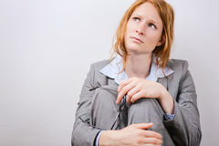 Stress or Failure at Work - Businesswoman Royalty Free Stock Image