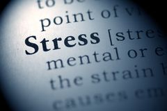Stress. Fake Dictionary, Dictionary definition of the word Stress Stock Images
