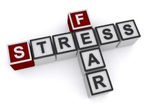 Stress fear crosswords. An illustration of stress fear crosswords on a white background stock illustration