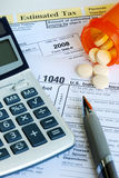 Stress in filing the income tax return. Stress in completing the income tax return Stock Image